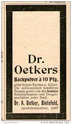 Original-Werbung/Inserat/ Anzeige 1899 - DR. OETKER'S BACKPULVER ca. 35 x 65 mm