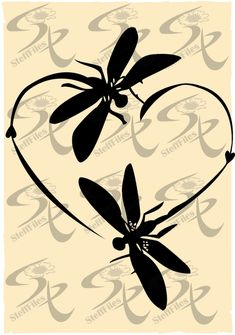 Dragonfly Drawing, Dragonfly Symbolism, Dragonfly Quotes, Dragonfly Silhouette, Silhouette Art, Cell Phone Covers, Brochure Design, Love Heart, Invitation Design