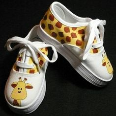 #Giraffe Canvas Lace Up Shoes #Gifts
