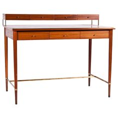 A Fruitwood Desk by Paul McCobb