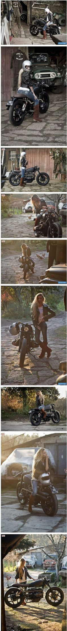 BMW R80 RT BY TON UP GARAGE Girls and Motorcycles