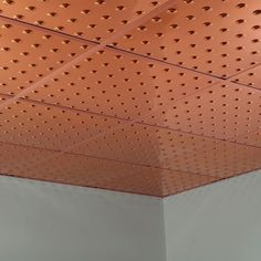 Fasade Dome Polished Copper 2-foot Square Lay-in Ceiling Tile