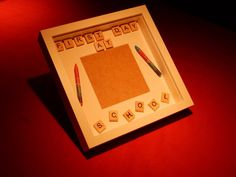 First Day at School Picture Photo Frame Scrabble by AbStyleArt