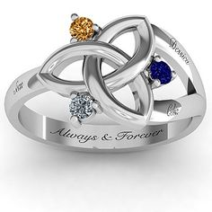 I LOVE THIS!!! And you can play with your stones and engraving ideas :) Mother's Day 2014 maybe????| Jewlr