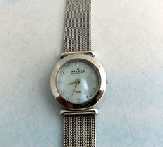 Your place to buy and sell all things handmade Skagen Watches, Mesh Band, Stainless Steel Mesh, Flaws, Pearls, Crystals, Ebay, Accessories, Vintage