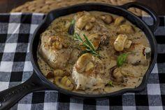 Receta de jamoncitos de pollo CUK con champiñones