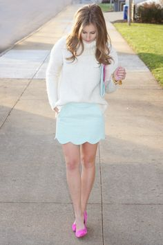 Sara Kate Styling: Cool Blues with a Pop of Pink