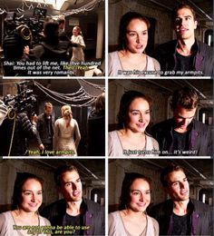 Funny moments Filming Divergent