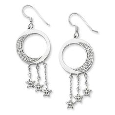 Sterling Silver I Promise You the Moon and Stars Sentimental Expressions Earrings | Body Candy Body Jewelry