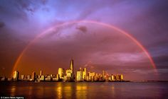 Jennifer stayed in place for a while after the storm where she saw this amazing rainbow st...