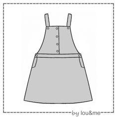patron de couture pour enfant patron de ma robe salopette { late summer } tailles 2, 4, 6, 8, 10 et 12 ans patron numérique à télécharger  ( PDF )