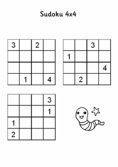 Sudoku puzzle 2 This site has lots of sudoku puzzles for kids (including instructions! Road Trip Activities, Teaching Activities, Activities For Kids, Homeschooling 3rd Grade, Homeschool Math, Sudoku Puzzles, Puzzles For Kids, Sudoku Online, Puzzles And Answers