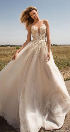 gala galia lahav spring 2017 sleeveless illusion embellished bodice sweetheart aline wedding dress (706) mv