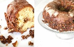 The Color Issue: the BEST brown sugar pecan coffee cake I ever did have...