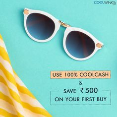 Stand Out In Exclusive Styles! Buy One Get One Offer on all Branded Sunglasses @Coolwinks Sale. Use 100% #CoolCash & Save UPTO Rs.500 on your first purchase. Shop Now.