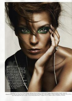 Donning Glittering Gems And Vibrant Jewel Tones Daria Werbowy Is A True Stunner Indeed For