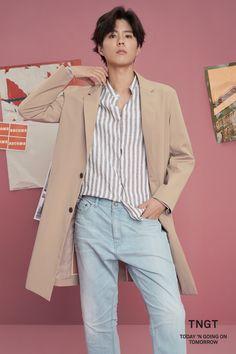 """park bogum for tngt ✧ 2018 s/s x "" Korean Star, Korean Men, Asian Men, Handsome Actors, Handsome Boys, Asian Actors, Korean Actors, Park Bo Gum Wallpaper, Park Go Bum"