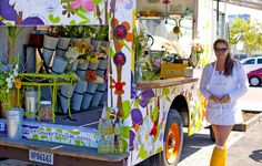 The Flower Truck. Such a great idea when you have a perishable product. Keep on going til your merchandise can be sold! Los Angeles, CA