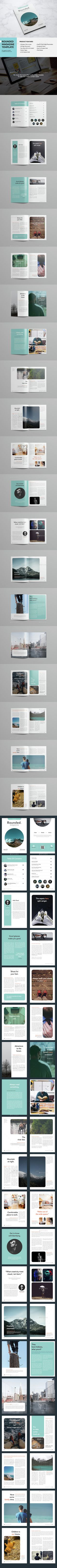 Rounded Magazine Template InDesign INDD. Download here: http://graphicriver.net/item/rounded-magazine/15123932?ref=ksioks