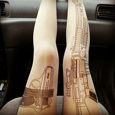 I like them better as tights, but possible tattoo idea as well (http://www.thecultlabel.com/machine-gun-stockings-v2-p-290.html?osCsid=f72da8575ac916e6e74f66e75d5c9d2c)