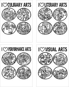Print out these coloring pages for your little artists.