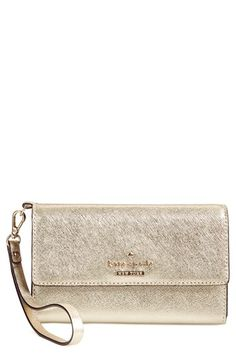 kate spade new york 'cedar street' iPhone 6 leather wristlet available at #Nordstrom
