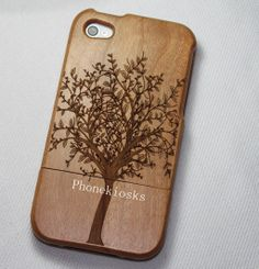 iphone 4s wood case wood iphone 4 case iphone 4s by PhoneKiosks