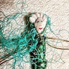 Mermaid green mermaid palm frond mermaid found objects