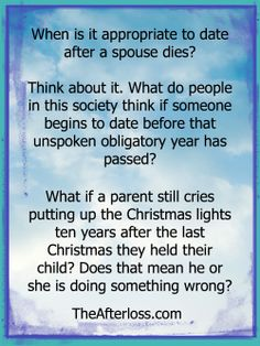 How long before dating after a spouse dies