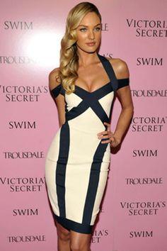 Black White Curvy Lines Thick Straps Bodycon Dress - OASAP.com