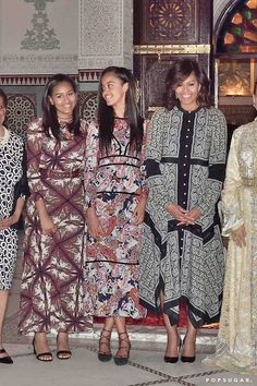Pin for Later: Michelle Obama and Her Daughters Just Redefined the Summer Dinner Dress