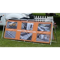 lightweight portable banner frames available as just the frame or with custom printed banners this high quality banner frame is ideal for outdoor event and