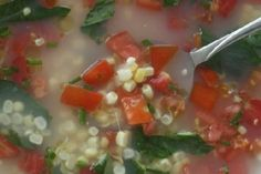 Meatless Monday: Island Fresca Soup with Corn and Tomatoes    http://recipemomma.com/recipe/meatless-monday-island-fresca-soup-with-corn-and-tomatoes/