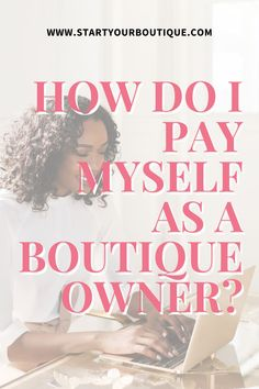 But, are you even at a place to be able to sustain paying yourself and running the business. Watch this video to learn more. Small Business Accounting, Accounting Software, Starting An Online Boutique, Self Employment, I Pay, Online Clothing Boutiques, A Boutique, Finance, Running