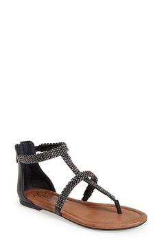 6b1bc6a2d Jessica Simpson 'Ravenna' Metal Mesh Trim Thong Sandal (Women)   Nordstrom