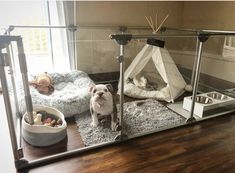 dog rooms / dog rooms + dog rooms in house + dog rooms under the stairs + dog rooms ideas + dog rooms in house bedrooms + dog rooms in house small spaces + dog rooms in bedroom + dog rooms in garage Animal Room, Dog Enclosures, Dog Room Decor, Dog Bedroom, Puppy Room, Dog Spaces, Dog Pen, Dog Rooms, Dog Houses