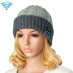 [$9.03] Bluetooth Headset Beanie Knitted Warm Winter Hat for iPhone 6 & 6s / iPhone 5 & 5S / iPhone 4 & 4S and Other Bluetooth Devices(Grey)