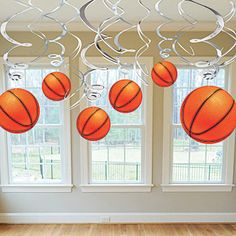 The Basketball Dangler Value Pack allows you to decorate for your favorite sport! Each Basketball Value Pack Swirl Decoration includes cut outs.