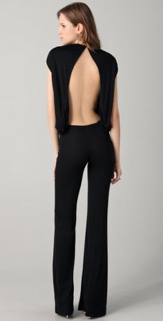 Dsquared2 Open Back Jumpsuit in Black - Lyst