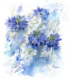 """Képtalálat a következőre: """"rachel mcnaughton artist"""" Watercolor Pictures, Watercolor Sketch, Watercolor Cards, Watercolor Flowers, Watercolor Paintings, Watercolors, Floral Artwork, Painting Inspiration, Flower Art"""