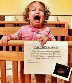 Cute baby announcement.  I like the idea.