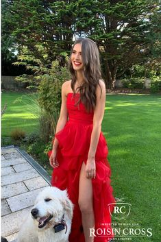 Valentino Red Silk Organza Debs Dress made at Roisin Cross Silks Dublin Silk Organza, Silk Crepe, Silk Chiffon, Silk Satin, Deb Dresses, Formal Dresses, Valentino Red, Red Silk, Dressmaking