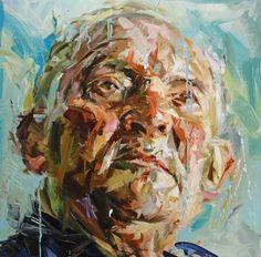 "Paul Wright - ROUND HEAD - Oil on canvas<script src=""/permanent/stats_update_screen_res. Abstract Portrait, Portrait Art, Portrait Inspiration, Painting Inspiration, Paul Wright, Oil Painting Techniques, Figure Painting, Art Studios, Oil On Canvas"