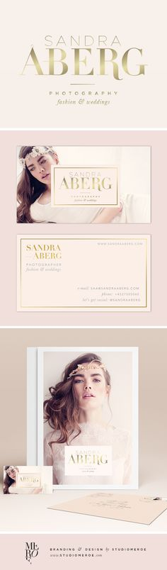 SNEAK PEAK: Branding for Sandra Åberg, wedding & fashion photographer. Logo, business card design and other marketing materials. // Designed by @StudioMeroe