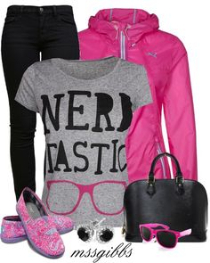 """Nerdtastic Day"" by mssgibbs  #nerd #fashion"