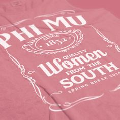 Phi Mu - Quality Women from the South Design - Sorority shirts - Sorority tanks - Phi Mu shirts - Phi Mu tanks - Check out b-unlimited.com!