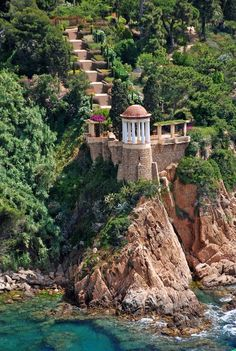 bluepueblo:  Cliffs, Costa Brava, Spain photo via global