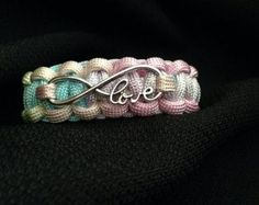 Customizable Paracord Bracelet with by 4PawsSpiritBracelets