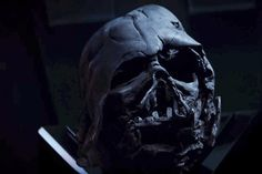Which is why Kylo Ren is always talking to Darth Vader's helmet!