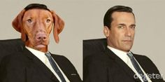"Dogs as ""Mad Men"" characters."